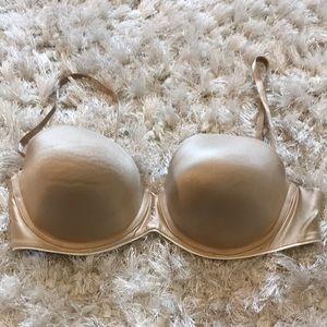 38C Sweet Nothings nude satin strapless bra